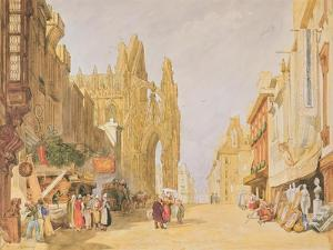 The High Street at Alencon by John Sell Cotman