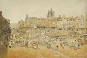 The Market Place, Norwich, Taken from Mr Cooper's, 1807 by John Sell Cotman