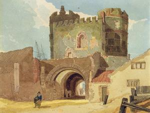 The South Gate, Great Yarmouth, Norfolk by John Sell Cotman