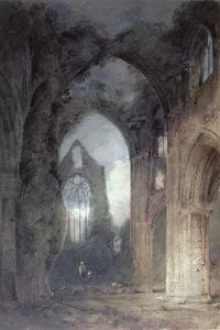 Tintern Abbey by Moonlight by John Sell Cotman
