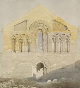 West Front of Castle Rising Church, Norfolk (Watercolour with Graphite) by John Sell Cotman