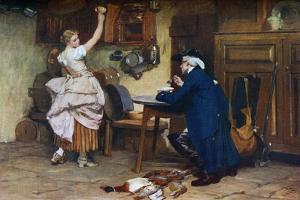 Flirtation, 1885 by John Seymour Lucas