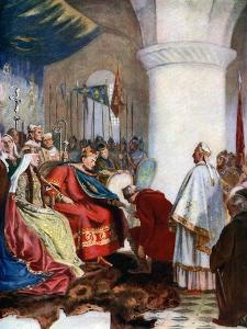 William I Granting a Charter to the City of London, 1075 by John Seymour Lucas