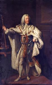 Portrait of King George II by John Shackleton