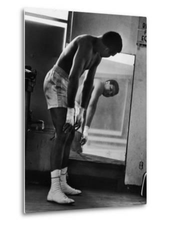 Boxer Muhammad Ali Training for His Fight Against Joe Frazier