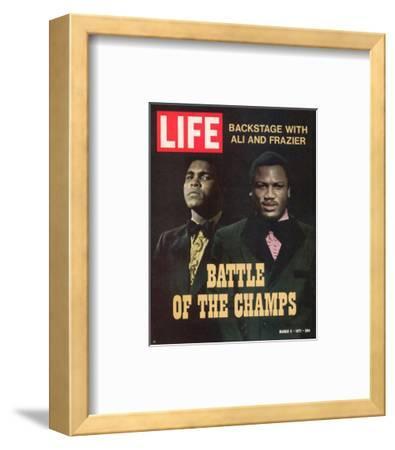 Boxers Muhammad Ali and Joe Frazier, March 5, 1971