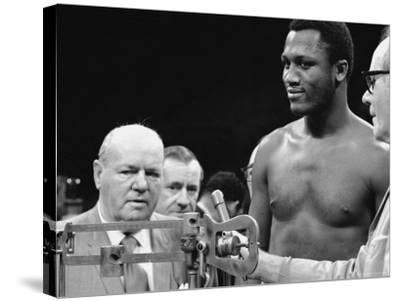 Joe Frazier at the Weigh in for His Fight Against Muhammad Ali