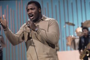 Joe Frazier Rehearsing with His Band Joe Frazier and the Knockouts for Don Rickles Show, 1971 by John Shearer