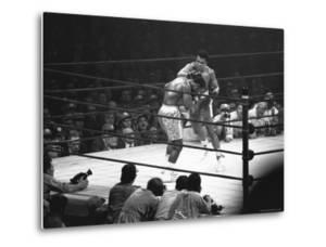 Joe Frazier Vs. Mohammed Ali at Madison Square Garden by John Shearer
