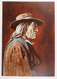 Portrait of an American Indian Man by John Shemitt Houser