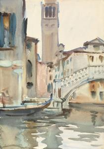 A Bridge and Campanile, Venice, 1902/04 by John Singer Sargent