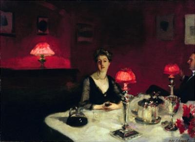 A Dinner Table at Night