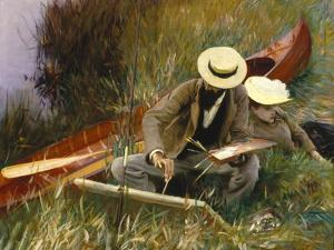 An Out-Of-Doors Study, 1889 by John Singer Sargent