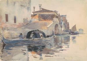 Canal Scene, Ponte Panada, Fondamenta Nuove, Venice, c.1880-82 by John Singer Sargent