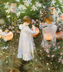 Chinese Lanterns, Girls, 1885 by John Singer Sargent