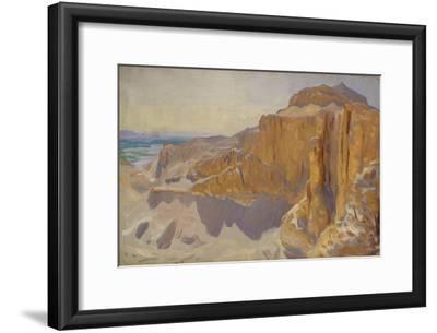 Cliffs at Deir el Bahri, Egypt, 1890-91