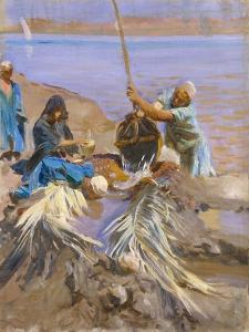 Egyptians Raising Water from the Nile, 1890-91 by John Singer Sargent