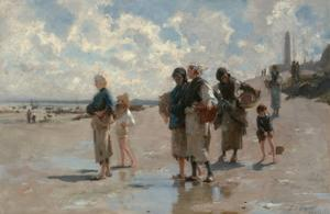 Fishing for Oysters at Cancale by John Singer Sargent