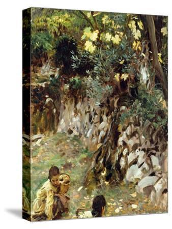 Girls Gathering Blossoms, Valdemosa, Majorca
