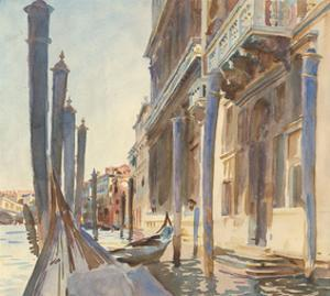Gondola Moorings on the Grand Canal, 1904/07 by John Singer Sargent