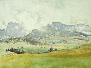In the Dolomites by John Singer Sargent