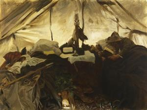 Inside a Tent in the Canadian Rockies by John Singer Sargent