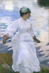 Lady Fishing - Mrs Ormond by John Singer Sargent