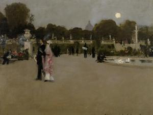 Luxembourg Gardens at Twilight, 1879 by John Singer Sargent