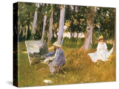 Monet Painting Woods, 1888