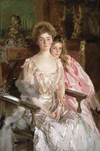 Mrs. Fiske Warren (Gretchen Osgood) and Her Daughter Rachel, 1903 by John Singer Sargent