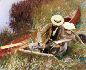Out of Doors Study by John Singer Sargent