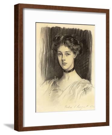 Portrait of Eva Katherine Balfour, Later Lady Buxton (1889-1978), 1911 (Black Chalk on Paper)