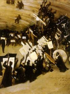 Rehearsal of the Pasdeloup Orchestra at the Cirque D' Hiver, 1876 by John Singer Sargent