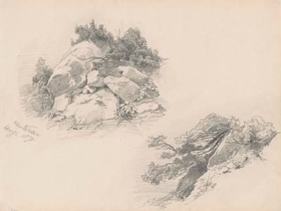 Rocks and Brush, Hintersee, Germany, 1871