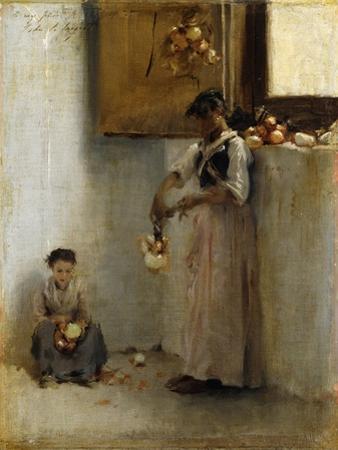 Stringing Onions, C.1882