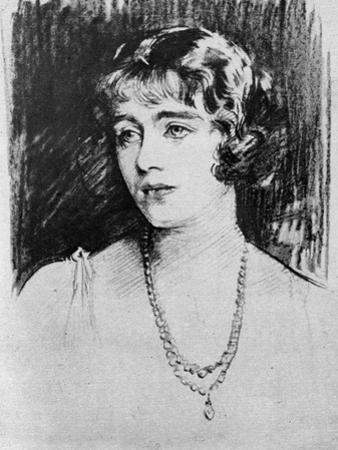 Study of Lady Elizabeth Bowes-Lyon, 1923