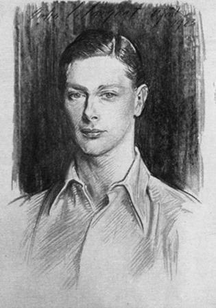 Study of the Duke of York, 1923