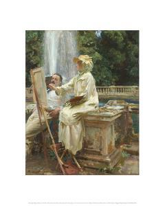 The Fountain, Villa Torlonia, Frascati, Italy, 1907 by John Singer Sargent