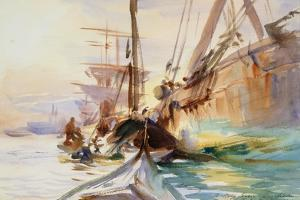 Unloading Boats in Venice, 1904 by John Singer Sargent