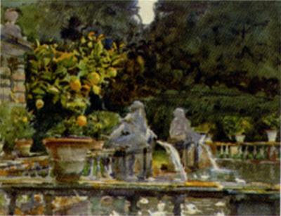 Villa di Marlia Lucca A Fountain, c.1910
