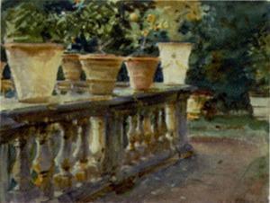 Villa di Marlia The Balustrade by John Singer Sargent