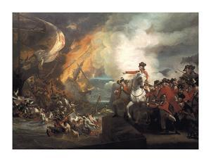 Defeat Of The Floating Batteries At Gibraltar by John Singleton Copley