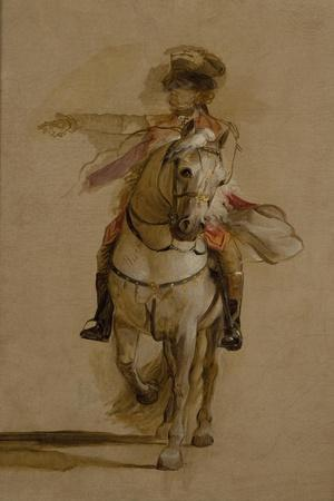 General George Augustus Eliott on a Grey Charger, Study for 'The Siege of Gibraltar'. C.1787