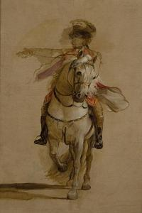 General George Augustus Eliott on a Grey Charger, Study for 'The Siege of Gibraltar'. C.1787 by John Singleton Copley