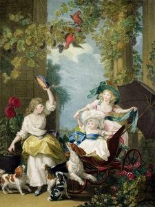 Their Royal Highnesses the Princesses Mary (1776-1857), Sophia (1777-1848) and Amelia… by John Singleton Copley