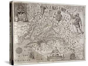 Map of Virginia, Discovered and Described by Captain John Smith, 1606, Engraved by William Hole by John Smith