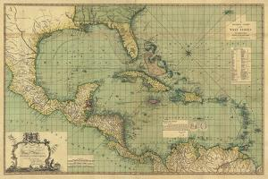 General Chart of the West Indies by John Smith Speer