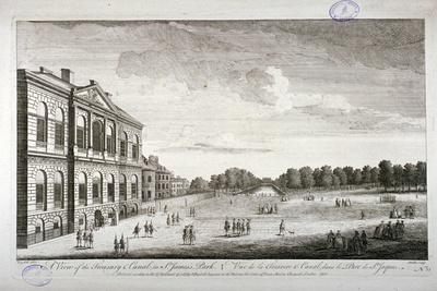 The Treasury and the Canal in St James's Park, Westminster, London, 1755