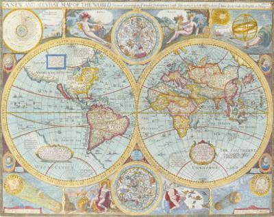 A New and Accurat Map of the World, 1627-1651