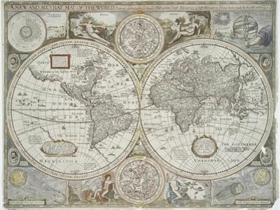 A new and accurate map of the world, 1676